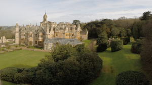 harlaxton manor aerial videography